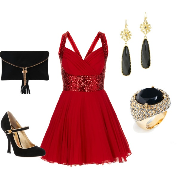 7 red new year eve outfits