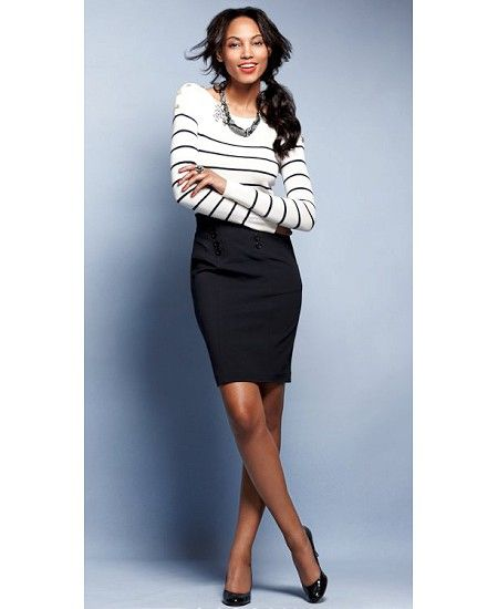 064911eac0 8 spring work outfits with a black skirt - Page 2 of 8 - larisoltd.com