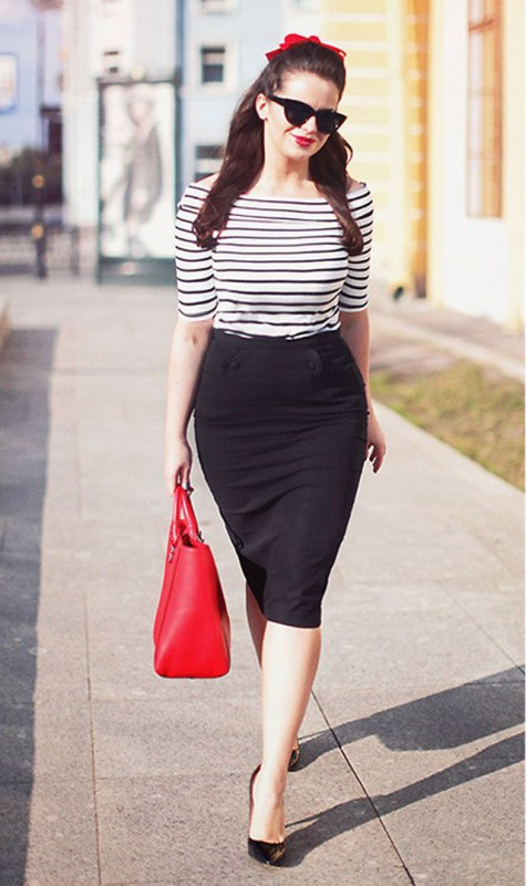 9ec9696352 8 spring work outfits with a black skirt - Page 5 of 8 - larisoltd.com