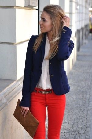 9 Ways To Wear Red Pants Outfits At Work - Larisoltd.com