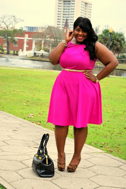 5 hot pink dresses for plus size girls that you will love ...