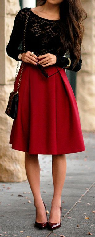 - 6 Christmas Outfits With A Red Skirt That You Will Love - Larisoltd.com
