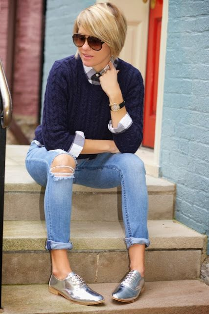 7 Ideas To Wear Silver Oxford Shoes With Style Larisoltd Com