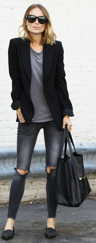 7 chic casual outfits with a black blazer - larisoltd.com