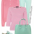 5 casual spring outfits with pastel jeans 1 120x120 - 5 casual spring outfits with pastel jeans