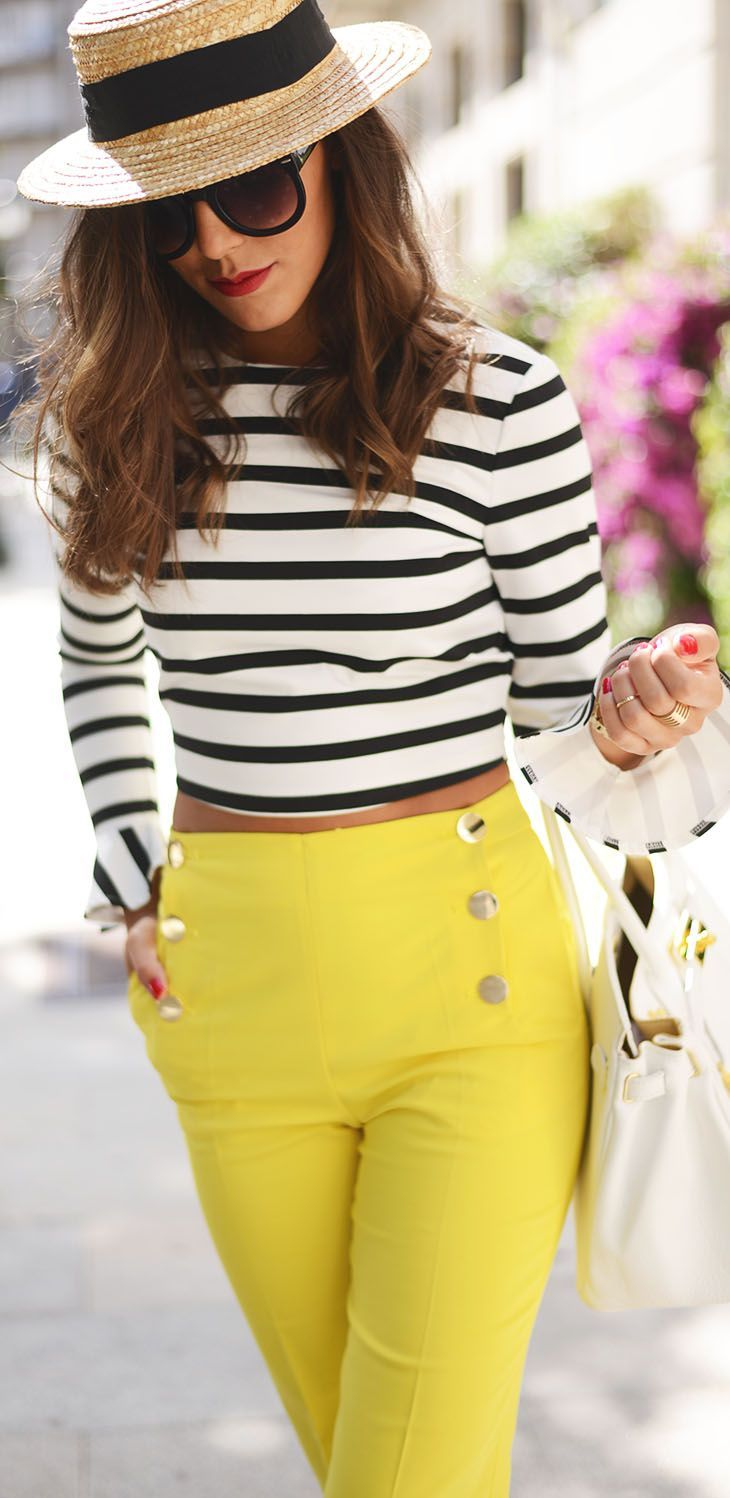 21 stylish yellow pants outfits for colored style - larisoltd.com