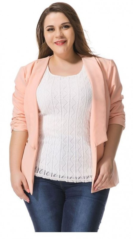 3 beautiful plus size pastel blazers to wear this spring 2 - 3 beautiful plus size pastel blazers to wear at work