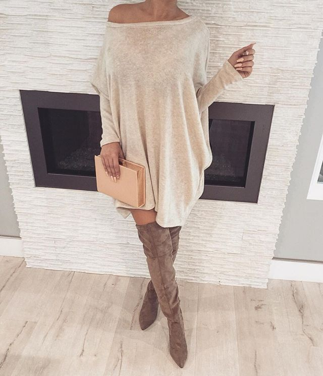 afffe98d48f 14 outfits with a cozy oversized sweater dress - larisoltd.com