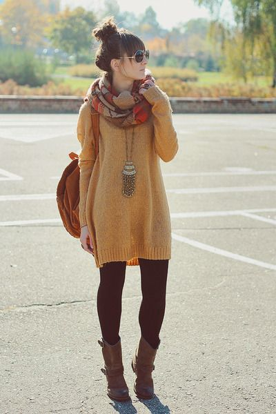 14 Outfits With A Cozy Oversized Sweater Dress Page 14 Of 14