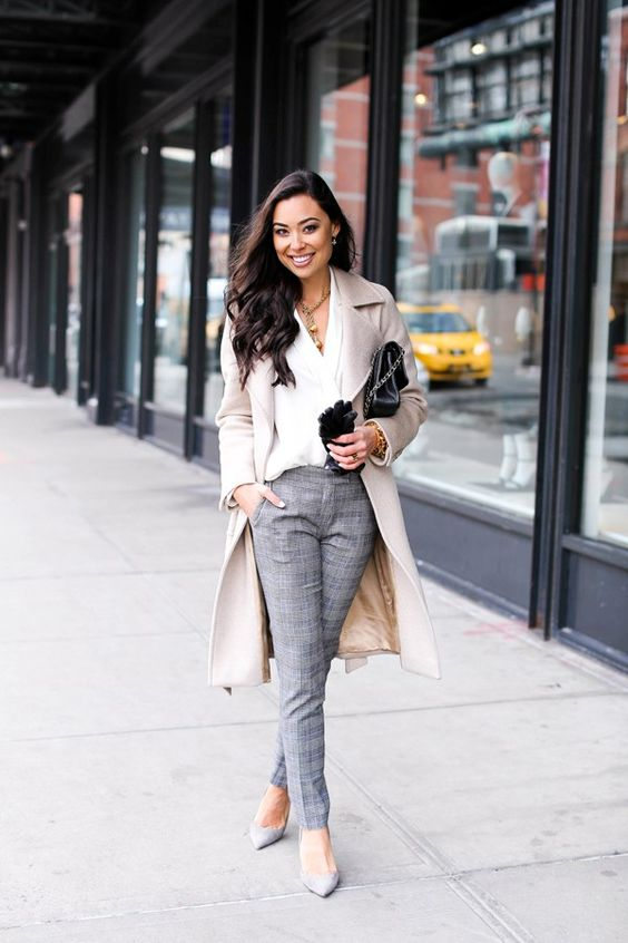 10 chic winter work outfits with grey pants  larisoltd