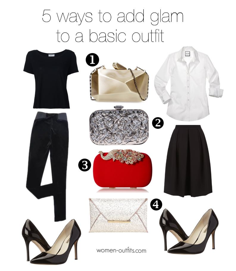5 ways to add glam to a basic outfit 3 - 5 ways to make any basic outfit glamorous for new years eve