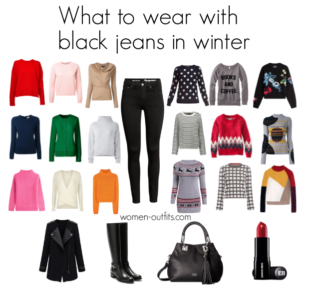 What to wear with black jeans for women