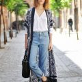 wear jeans kimonos spring 3 120x120 - How to wear jeans with kimonos in spring 20 outfit ideas
