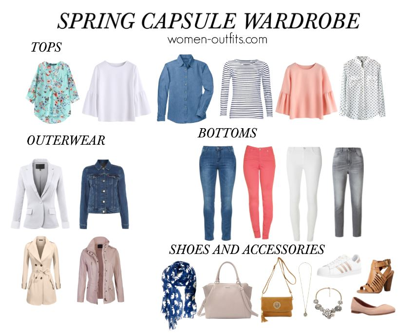 spring capsule wardrobe for women women outfits - Spring capsule wardrobe for women