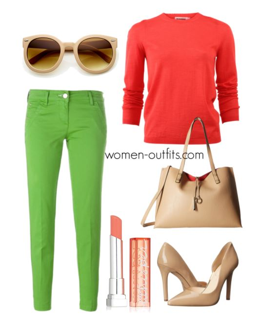 how to wear green pants at work 1 - What to wear with green pants at work - 10 outfit ideas