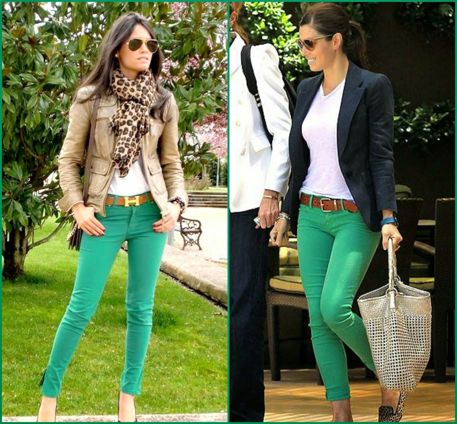 What to wear with green pants at work - 10 outfit ideas - larisoltd.com