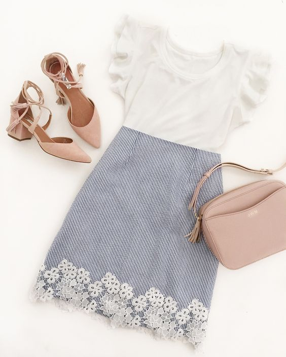 7 stylish summer work outfits comfortable shoes 2 - 7 stylish summer work outfits with comfortable shoes